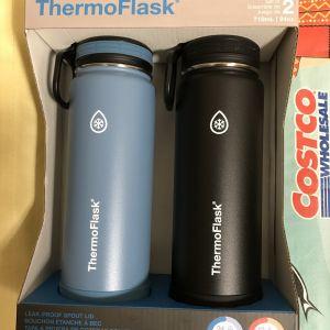 THERMOFLASK 二重壁真空断熱 ステンレススチール ウォーターボトル