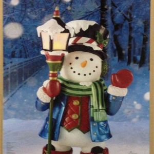 スノーマン グリーター LEDキャンドル Snowman GREETER with LED candle