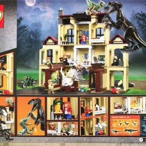LEGO レゴ ジュラシックワールド インドラプトル ロックウッド邸で大暴れ 75930