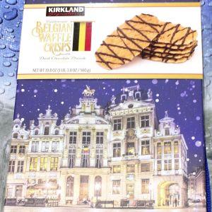 カークランド ベルギーワッフルクリスプ ダークチョコレート ドリズル