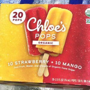 CHOE'S POPS クロエポップ オーガニックフルーツバー マンゴー&ストロベリー