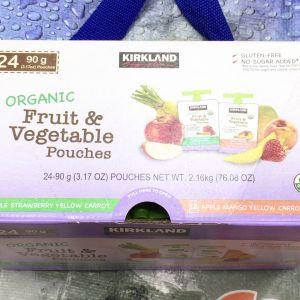 カークランド オーガニック フルーツ&ベジタブルパウチ