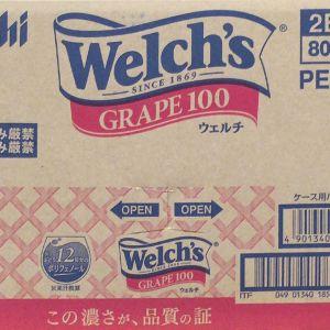 アサヒ飲料 Welch's ウェルチ グレープ100/オレンジ100